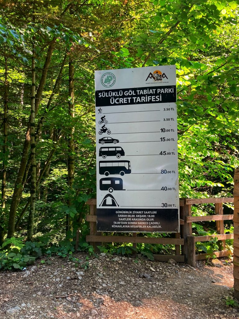 Sülüklügöl Tabiat Parkı Ücret Tarifesi
