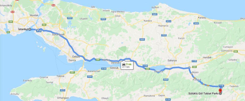 İstanbul - Sülüklügöl Google Map